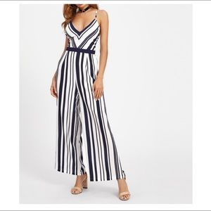 Other - NWT wide leg striped jumpsuit